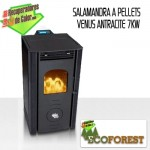 Salamandra a pellets Ecoforest Venus Antracite